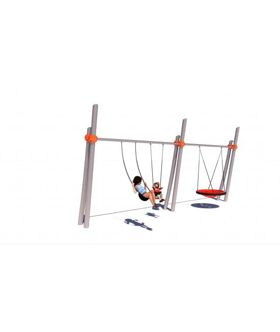 Twin Pillar Two Bay Swing