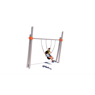 Twin Pillar Single Bay Swing