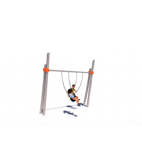 Twin Pillar Single Bay Swing