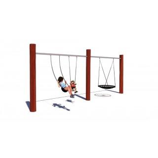 Rustik Two Bay Swing