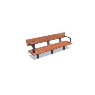 1.8m Cedar Bench Seat w 2 Arms