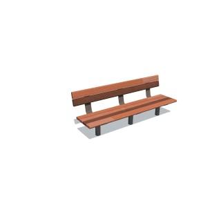 1.8m Cedar-Mink Bench Seat
