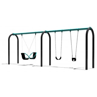 2 Bay Arch Swing with Friendship, Strap and Toddler Seats