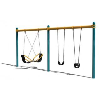 2 Bay Friendship Swing on Single Post Frame