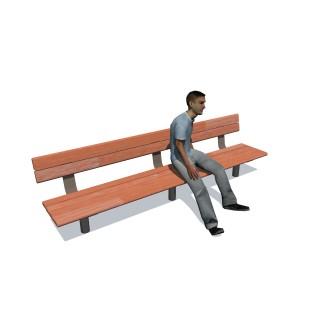 2.4m Cedar Bench Seat