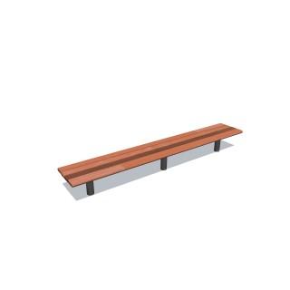 2.4m Cedar-Mink Bench