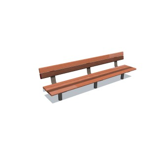 2.4m Cedar-Mink Bench Seat