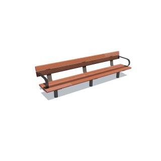 2.4m Cedar-Mink Bench Seat w 2 arms
