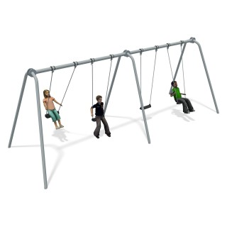 Junior Swing 2 Bay Stainless Steel (4 Flat Seats)