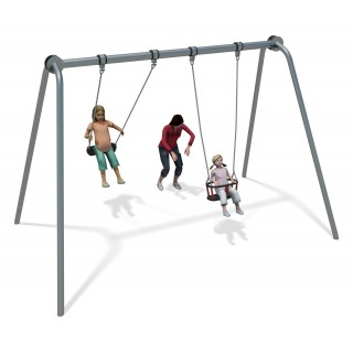 Junior Swing Stainless Steel (1 Cradle 1 Flat Seat)