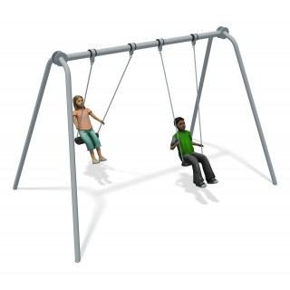 Junior Swing Stainless Steel (2 Flat Seats)