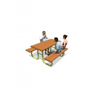 Poly Picnic Table 60' Table with 2 x 60' Seats - Moveable - LS227