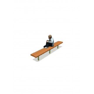Recycled Contour Series Bench 96' no Backrest, no Armrests 2' - LS019