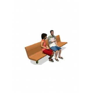 Recycled Contour Series Bench 60' with Backrest, no Armrests 2' - LS009