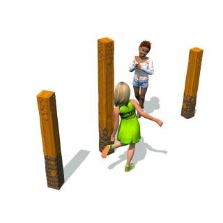 Totem - Carved Ovals 1.4m