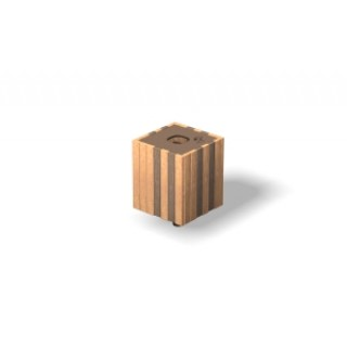 Wood-Grain Litter Bin