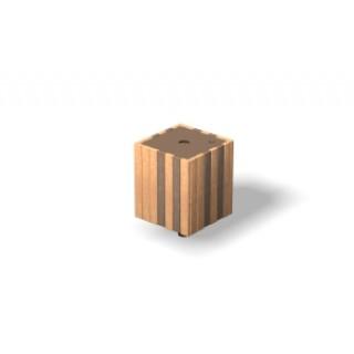Wood-Grain Recycle Bin
