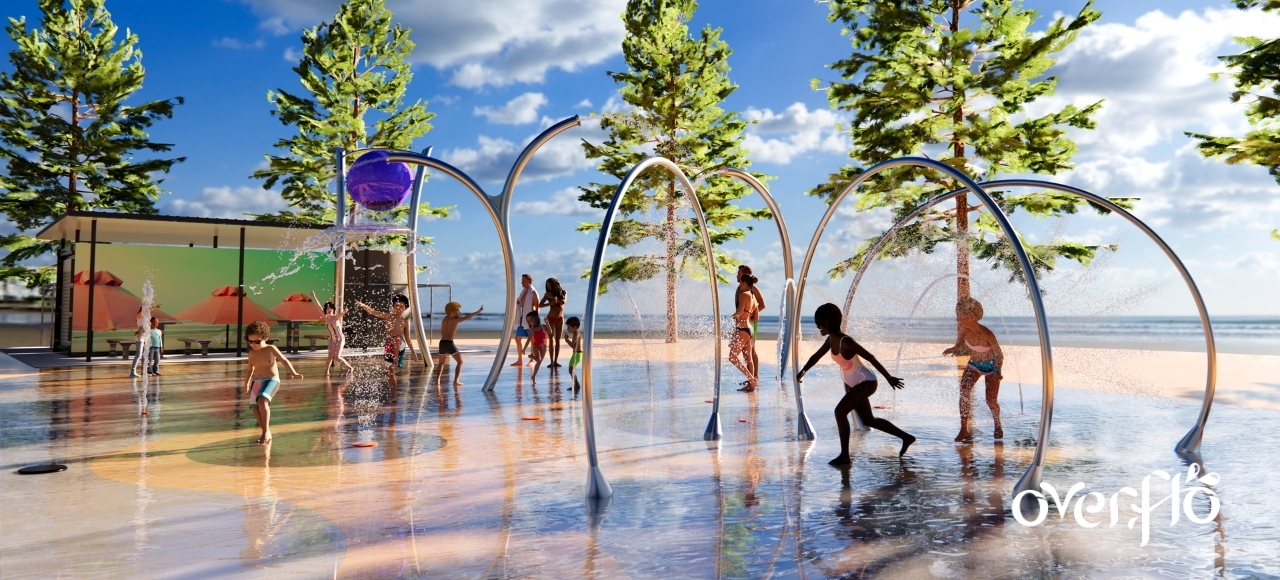 Affordable community splashpark assets can be constructed by local professionals