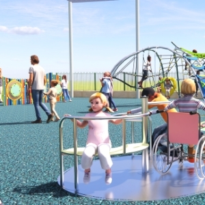 Add Inclusive Play Items like trampolines and carousels