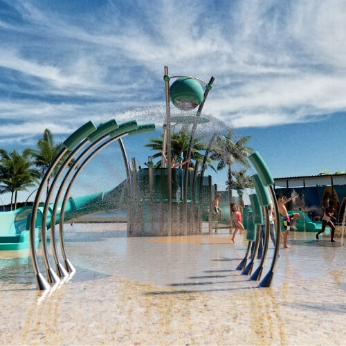 COmplete Splashparks, ready to construct