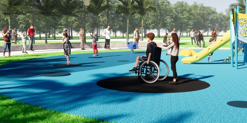 AirJumpers Inclusive Play allows all children to play together