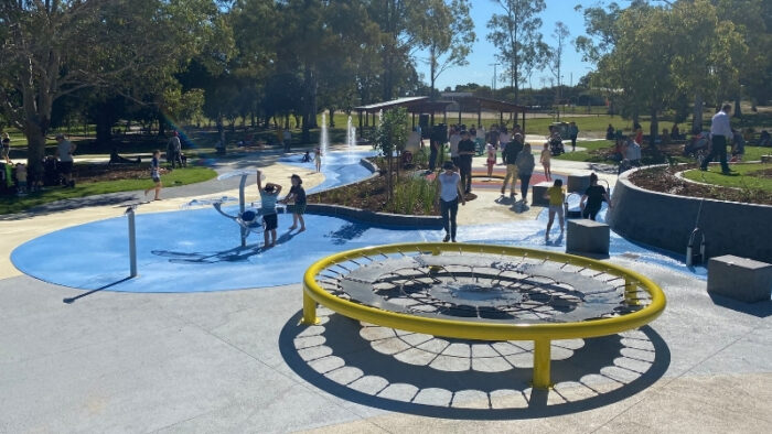 SplashSide Central Interactive Water Features